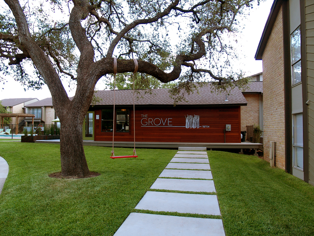 The Grove Apartments Modern Austin Large Scale Landscape