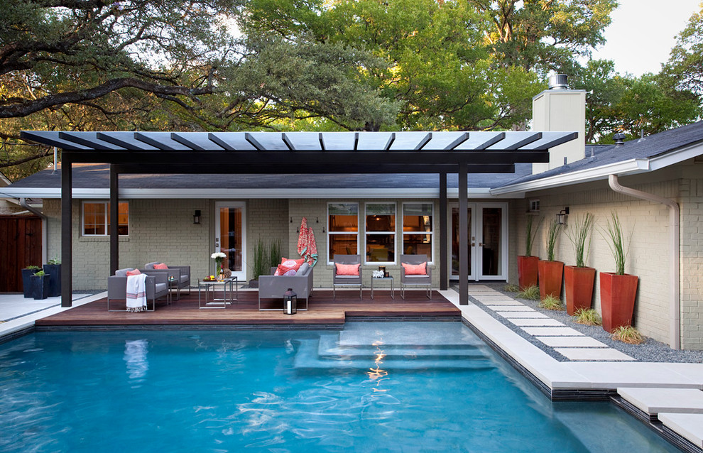 Prickly Pear - austin outdoor design on Modern Backyard Ideas With Pool id=47522